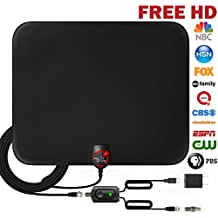 UPGRADED 2018 VERSION HD Digital TV Antenna Kit – Best 50 Miles Long Range High-Definition with HDTV Amplifier Signal Booster for Indoor - Amplified 18ft Coax Cable - Support All TV's - 1080p 4K ready