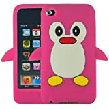 SKS Distribution EL-OG2J-3GOO Hot Pink Penguin Style Case Back Cover for Apple iPod Touch 4TH Gen Generation 4 4G Brand
