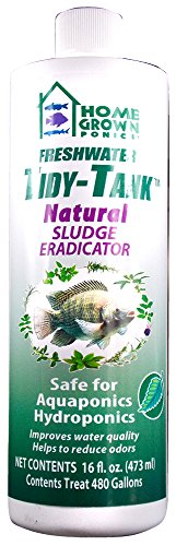 HOME GROWN PONICS Tidy Tank # 96040 Natural Sludge Eradicator, 16-oz. (Available 12/cs)