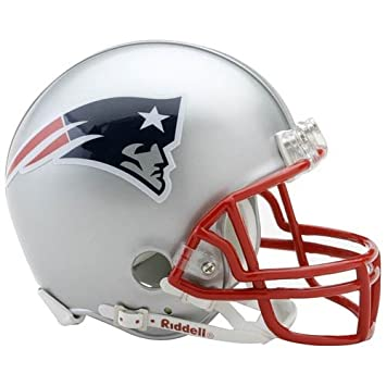 New England Patriots Mini oficial NFL Riddell casco
