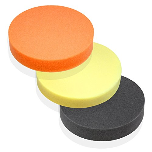 """Premium-Quality 6"""" Foam Buffing Pad for Power Polishers - Choose Soft, Medium or Firm - Foam Made in Germany"""