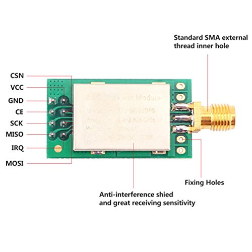 WHDTS 2.4GHz E01-ML01DP5 Transceiver 22dBm nRF24L01P+PA+LNA Wireless Transmission Module 100mW 2500M Measured Distance with Antenna by WHDTS (Image #3)
