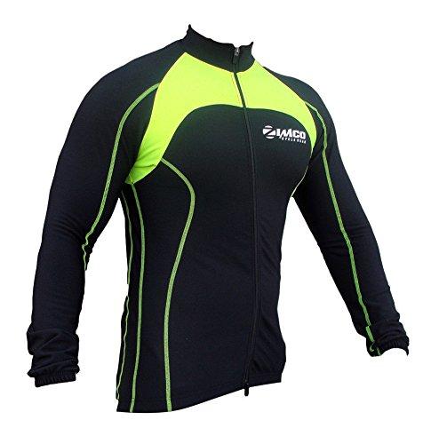 Zimco Pro Bike Jacket Cycling Viz Jacket Winter Soft Shell Wind Jersey Neon (XL)