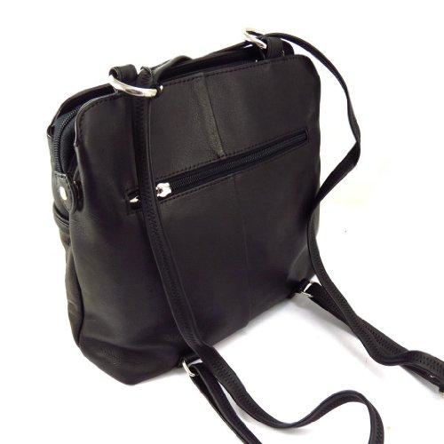 Bolso de piel vuelta 'Vendôme' negro.
