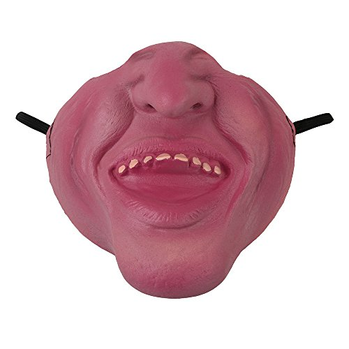 Iuhan Halloween Ghost Mask High Simulation Funny Latex Half Face Pig Zombie Horror Mask (B) (Mini Pirate Skull Figurine)