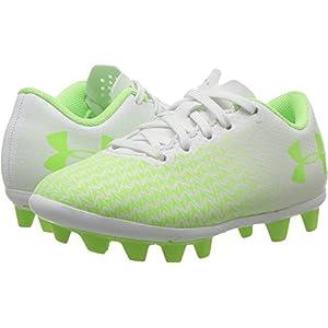 Under Armour Kids Unisex CF Force 3.0 FG-R Jr. Soccer (Toddler/Little Kid/Big Kid) White/White/Lime Light Athletic Shoe