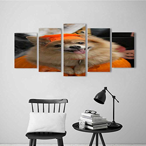 Wulian Combination of Decorative Painting Frameless Halloween Costume Puppy for Wall -