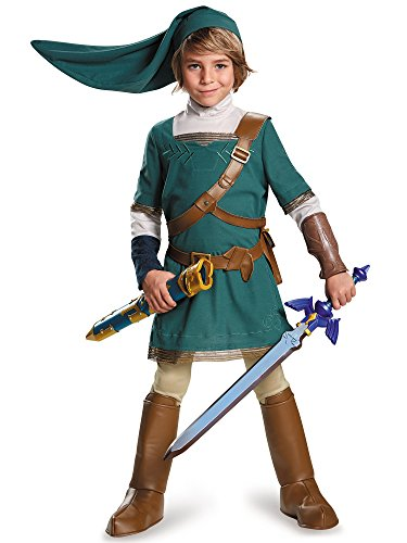 Link Prestige Legend of Zelda Nintendo Costume, Large/10-12 -