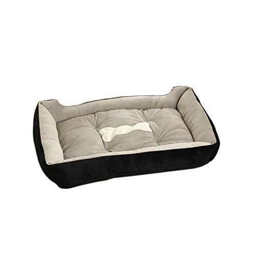 Black 80x60x15cm Black 80x60x15cm Befaith Large Warm Soft Fleece Pet Dog Kennel Cat Puppy Bed Mat Pad House Cushion Black 80x60x15cm