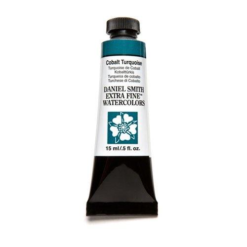Daniel Smith Extra Fine Watercolor 15ml Paint Tube, Cobalt Turquoise