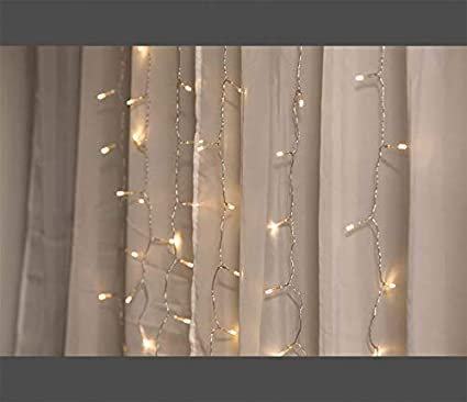 Merkury Innovations LED Window Curtain String Lights Wedding Party Home Garden Bedroom Outdoor Indoor Wall Decorations Ombre Lights