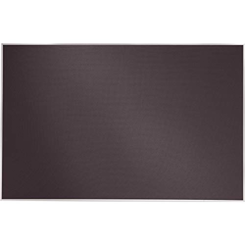 Quartet Matrix Gray Bulletin Board - 48quot; Height x 31quot; Width - Gray Woven Fabric Surface - Aluminum Frame (Woven Aluminum Fabric)