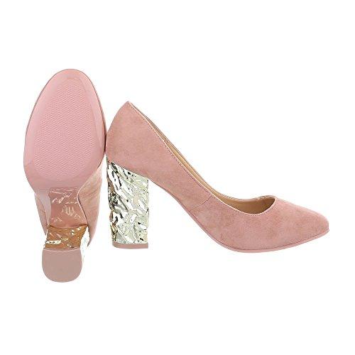 Damen Schuhe Pumps High Heels Altrosa
