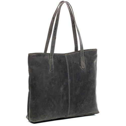 mano Borsa a AVA portatile borsa vera pelle per shopping sacchetto adatto nero pollici 13 BACCINI CFBqSx