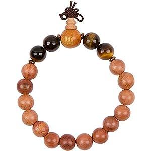 WOODIES Tiger Eye and Wood Bead Bracelet