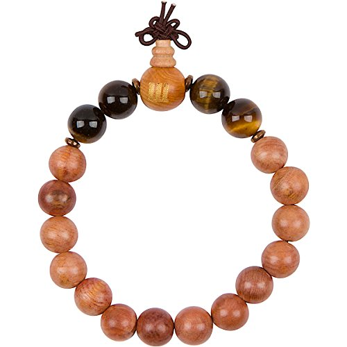 Woodies Tiger Eye and Wood Bead Bracelet
