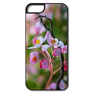 IPhone 5/5S Covers, Pink Flowers Focus White/black Cases For IPhone 5