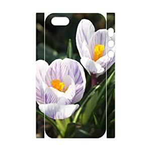 3D Case For Samsung Galaxy S3 i9300 Cover Case beautiful white crocuses Cheap For Boys, Case For Samsung Galaxy S3 i9300 Cover For Girls Stevebrown5v, [White]