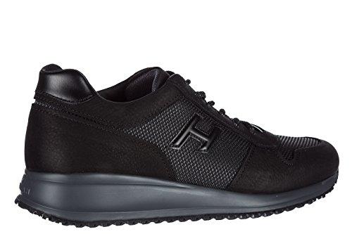 Hogan Chaussures Baskets Sneakers Homme en Cuir Interactive n20 h 3D Noir