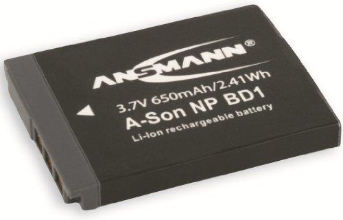 Np Fd1 Replacement - Ansmann 5044333 3.7 Volt A-Son NPBD1 650mAh Lithium Replacement Battery for Sony NP BD1/FD1, DSC-T2,DSC-T70, DSC-T200 and DSC-T300.
