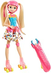 Be a game changer with Barbie doll! Inspired by Barbie Video Game Hero, Barbie Video Game Hero Light-Up Skates doll is ready to skate into the game! She wears her cool video game fashion from the movie and has working roller skates that light...