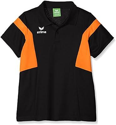 Erima GmbH Classic Team Polo de Tenis, Unisex niños, Negro/Naranja ...