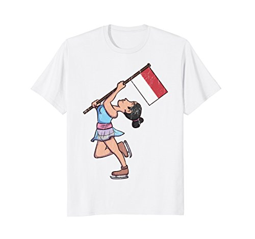 Indonesia Figure Skating T-Shirt for Indonesian Skaters