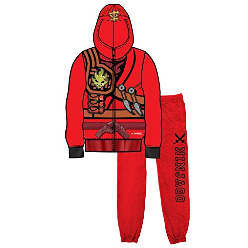 Lego Movie Ninjago Red Boys Two-Piece Zip-Up Costume Hoodie & Sweatpants Set (8)