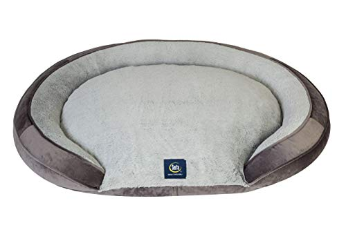 Serta Oval Couch, Grey, Large