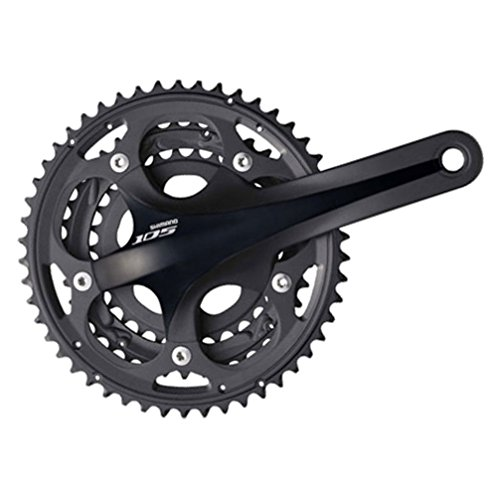 Shimano FC-5703 105 Triple Crankset (Black, 170-mm 50/39/30T 10 Speed) - Triple Crank