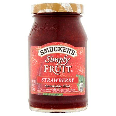 Smucker's Simply Fruit Spreadable Fruit 10oz Jar (Pack of 3) (Strawberry)