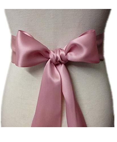 Wedding Sash Bridal Belts Simple Classic Silk Ribbon Sash for Dress (Pale Mauve)