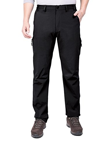 Nonwe Mens Casual Water-Resistant Outdoor Quick Dry Zipper Cargo Pants
