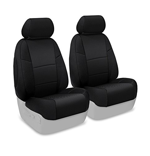 Coverking Custom Fit Front 50/50 Bucket Seat Cover for Select Hummer H3 Models - Spacermesh Solid (Black) (Hummer Seat Covers H3 compare prices)