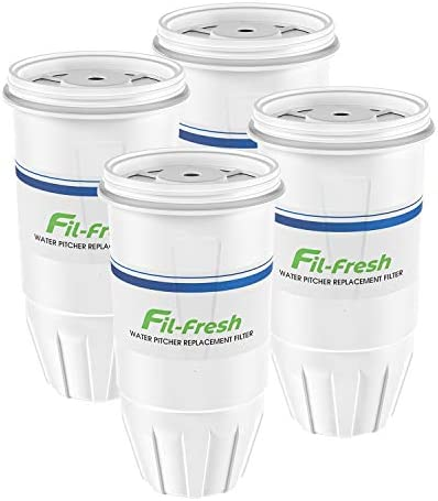 Fil-fresh ZR-017 Replacement Filters Compatible with ZeroWater Pitchers and Dispensers, ZR-017 Replacement Water Filters, 4-Packs, BPA-Free
