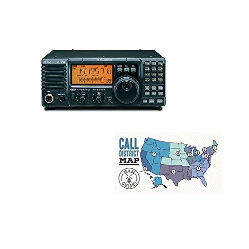 Icom Antenna Tuner - Icom IC-718 Base radio, HF, 100W and Ham Guides Pocket Reference Card Bundle