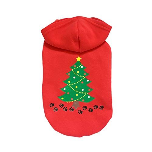 Dog Hoodie Sweater Pet Puppy Shirts Costume Clothes Apparel for Halloween Christmas Holiday Festival -
