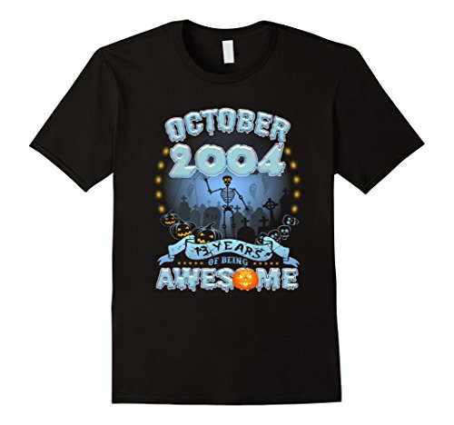 Mens October 2004 - 13th Birthday Gifts Funny Tshirt XL Black (Halloween Party 13 Year Olds)