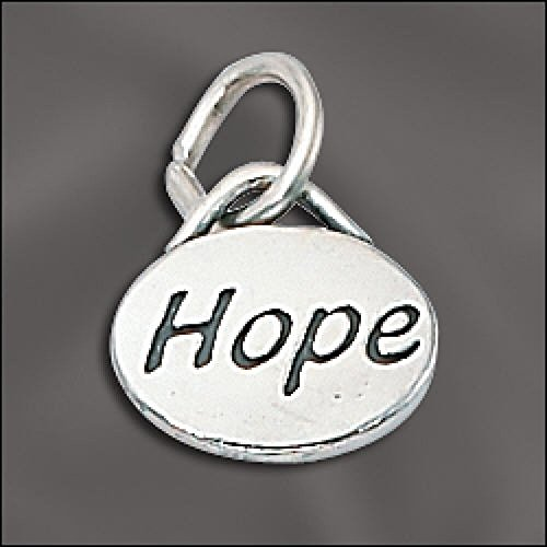 Charm - Hope Message Charm .925 Sterling Silver ()