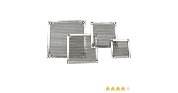 Ventilador rejilla filtro de aluminio, 40 x 40 mm (2 unidades ...