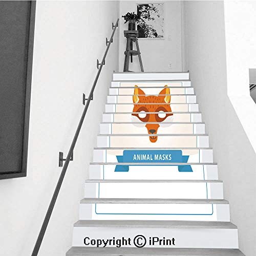 Removable Art Staircase Decals for Stairway or Home Decoration,7.1