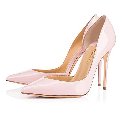 Caitlin Slip Pink Chaussures Semelle Hauts Semelle Pointu Bal Bout Pan Rouge Aiguille Rouge Side 5CM Bout Ouvert Talon de 10 10cm EscarpinsTalons on Pompes CM 12 CM Femmes 6 Light r4rqI