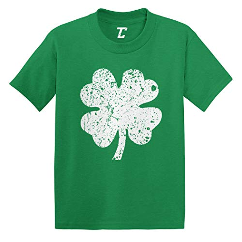 Distressed Four Leaf Clover - Luck Irish Infant/Toddler Cotton Jersey T-Shirt (Kelly, 4T)