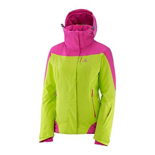 Salomon Women's Icerocket Jacket, Acid Lime, Large