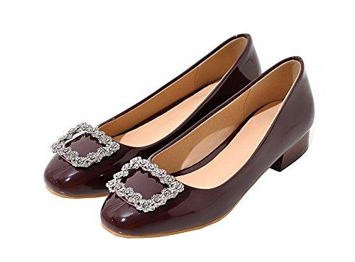 Low Claret Schuhe Damen PU Toe Closed Pumps Heels VogueZone009 xgUZqqw