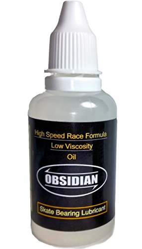 Skateboard Bearing Lube (Obsidian High Speed Skate Oil/ Low-Viscosity Bearing Lubricant Tube Lube Bottle, For Skateboards, In-Line Skates, Electric Skateboards/Longboard or Fast Moving Bearing use (Made in the USA) (1 oz))