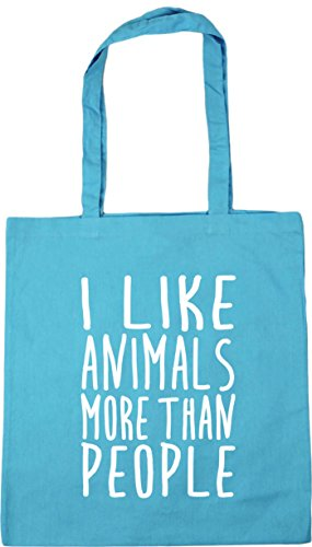 Beach like Blue x38cm I Surf than 42cm litres more Bag people animals 10 Shopping Tote HippoWarehouse Gym BSz1w