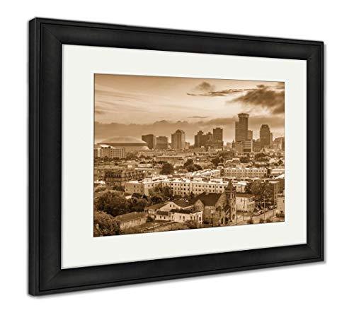 - Ashley Framed Prints New Orleans, Louisiana, USA, Wall Art Home Decoration, Sepia, 26x30 (Frame Size), Black Frame, AG32911928