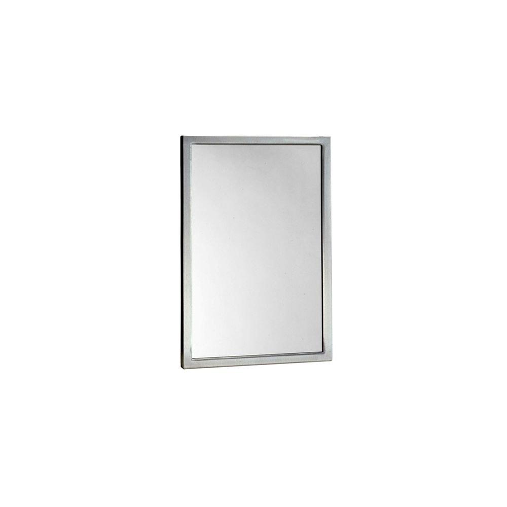 Bobrick B-290 1836 Stainless 18'' x 36'' Welded Frame Mirror
