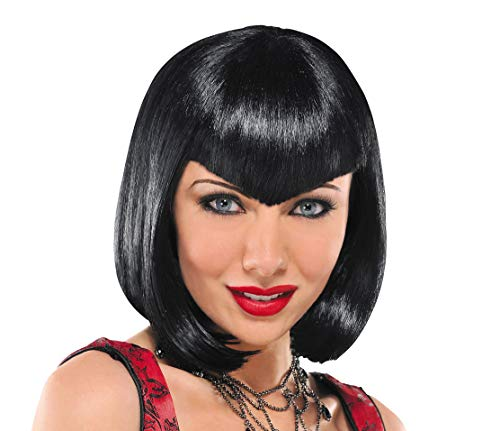 Va Va Vampiress Short Wig Halloween Costume Accessories, Black, One Size, by Amscan ()